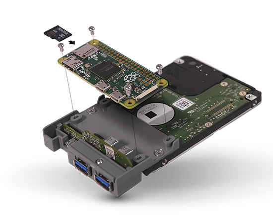 WD PiDrive Node Zero – A low-energy hard drive coupled with a Pi Zero