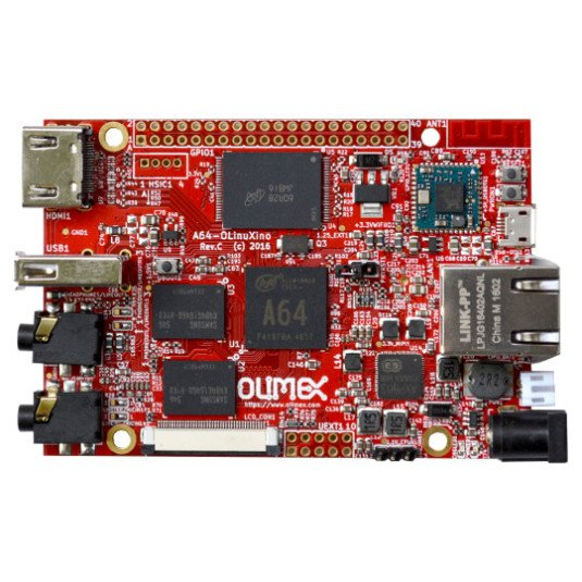 A64-OLinuXino board with 64-bit Cortex-A53 processor