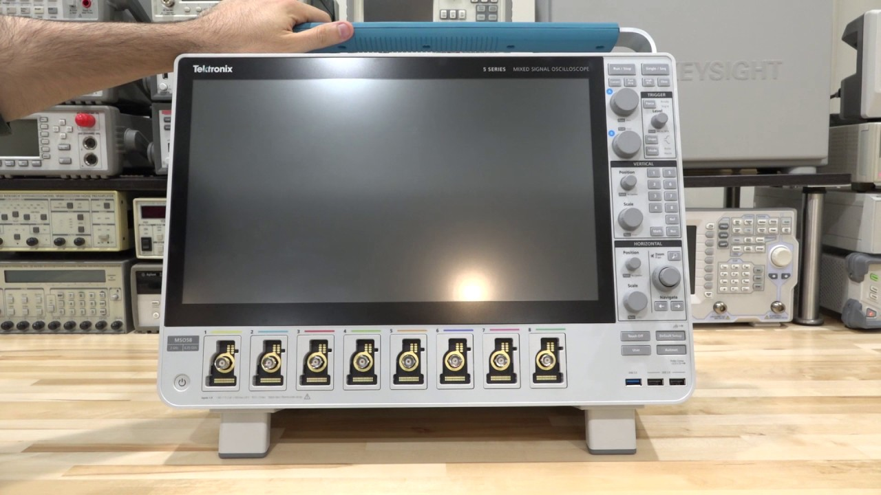 Overview of the Tektronix MSO58 8-Channel 6.25GS/s 2GHz Mixed-Signal Oscilloscope
