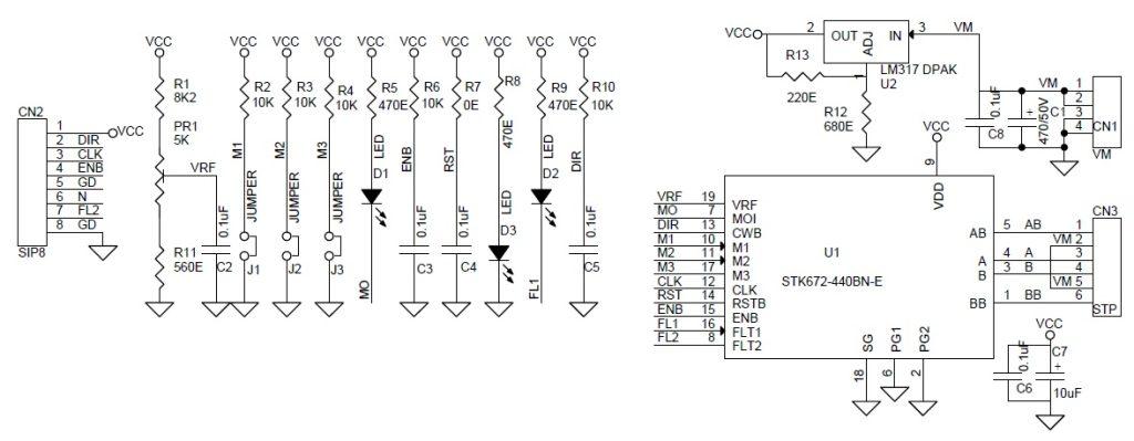 3.5A Unipolar Stepper Motor Driver - Electronics-Lab on bipolar stepper motor schematic, motor control circuit schematic, servo motor schematic, unipolar stepper driver schematic, stepper motor controller schematic,