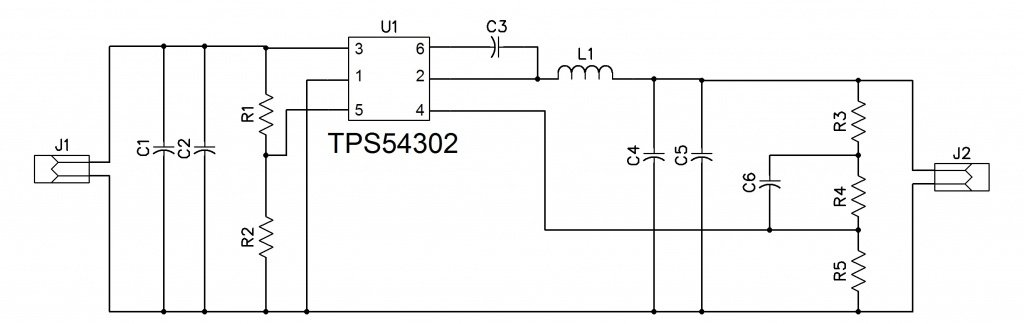 5V @ 3A Power Supply using TPS54302
