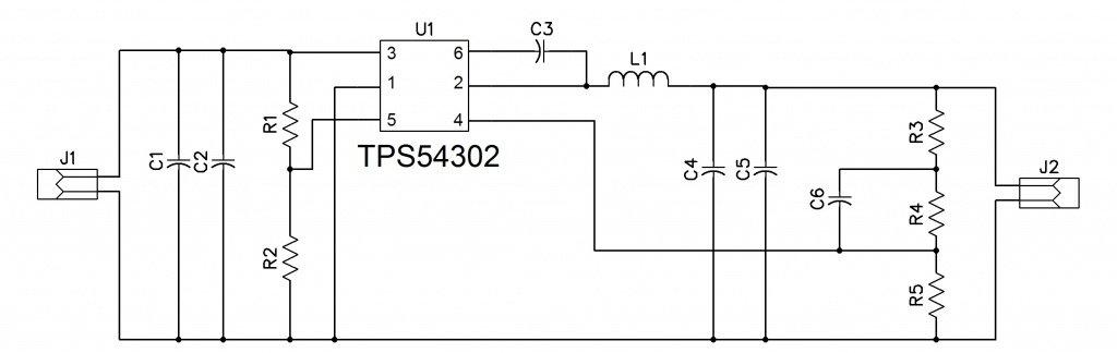 5V @ 3A Power Supply using TPS54302