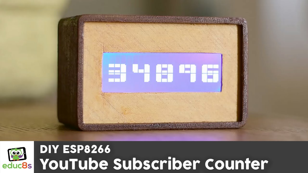 YouTube Subscriber Counter with Wemos D1 mini