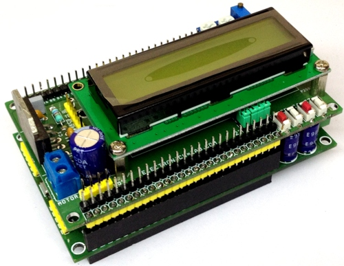 16X2 LCD Shield with LMD18201 Motor Driver