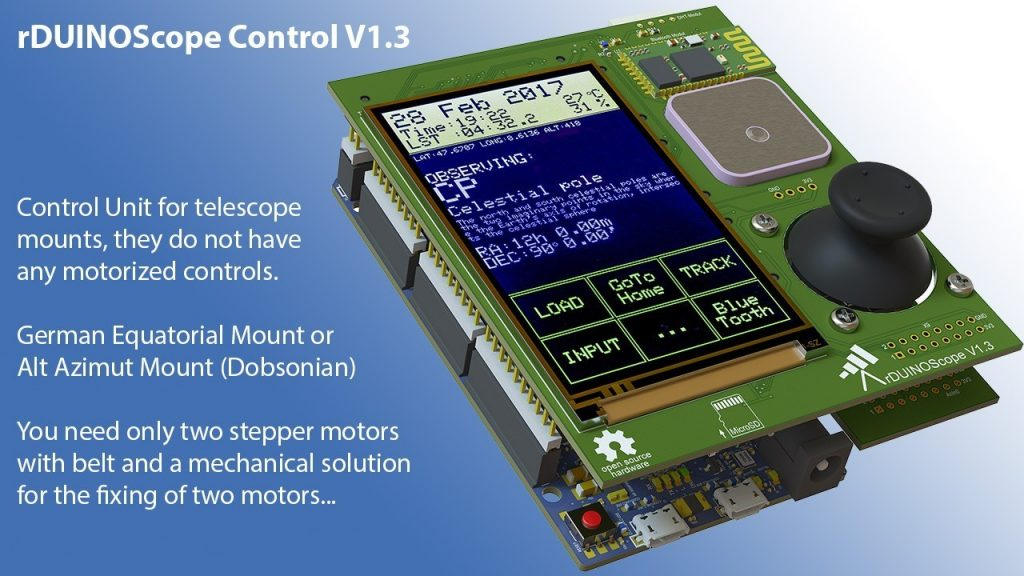 rDUINOScope – Arduino Telescope Control