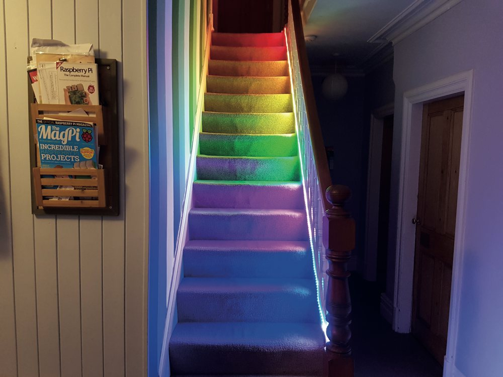 Temperature Controlled Stair lights With Raspberry Pi