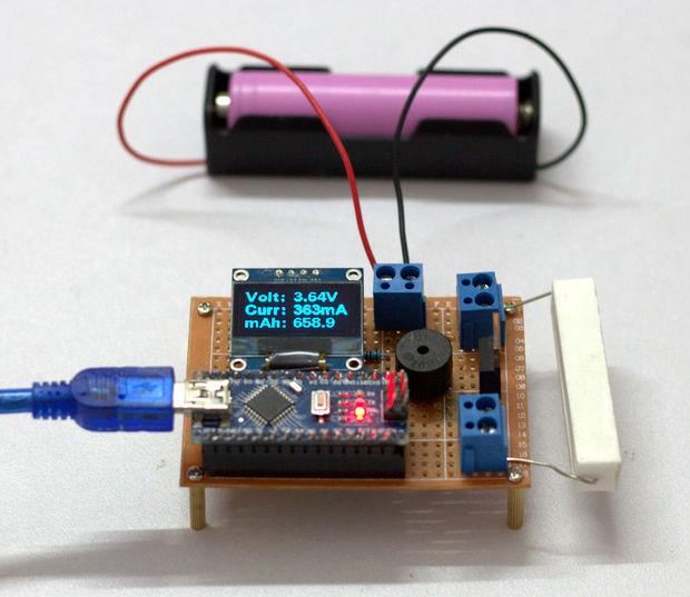 DIY Arduino Battery Capacity Tester