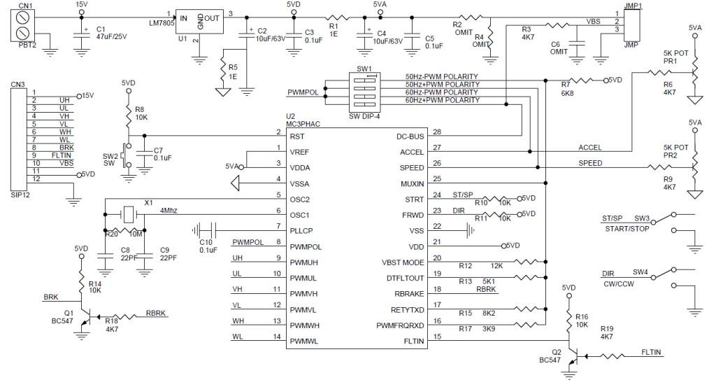 3 Phase AC Motor Controller - Electronics-Lab