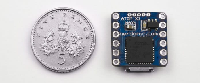 Nerdonic Atom X1 is the World's Smallest 32-bit Arduino Compatible Board