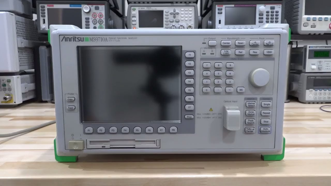 Teardown & Experiments with an Anritsu MS9710B 0.6-1.75um Optical Spectrum Analyzer