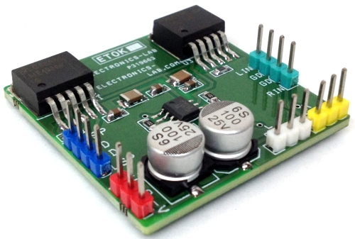 Hi-Fi Stereo Headphone Amplifier using LME49600