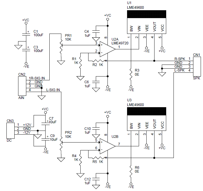 Hi-Fi Stereo Headphone Amplifier using LME49600
