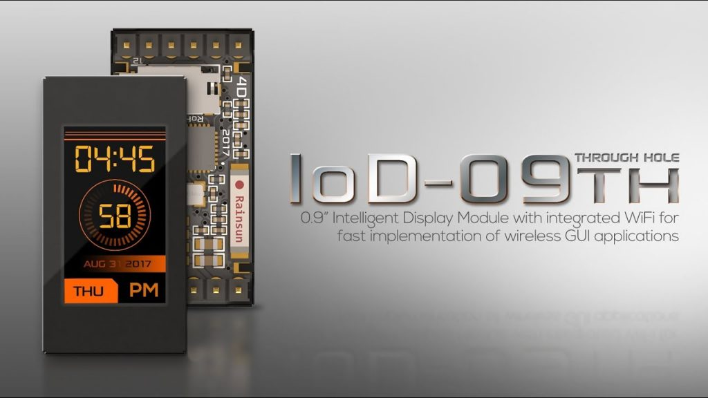 IoD-09, An Intelligent WiFi-Enabled Display Module
