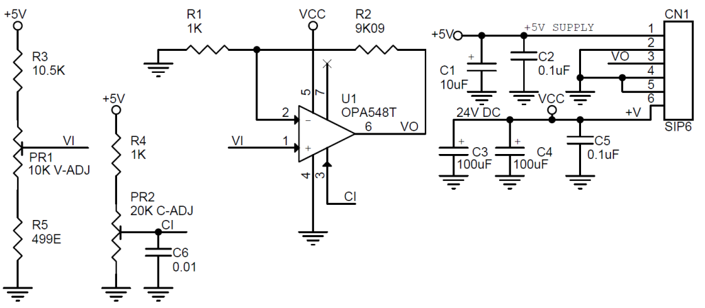 programmable power supply using opa548