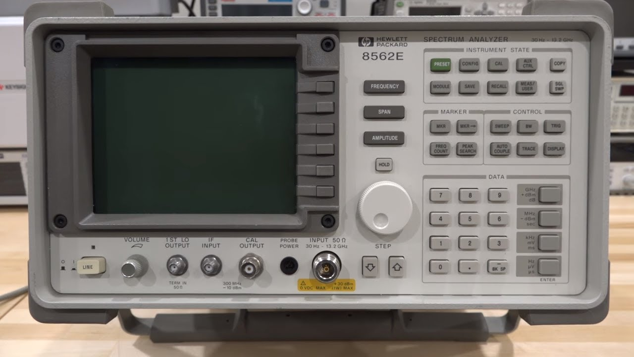 Teardown, Repair & Experiments with an Agilent 8562E 30Hz – 13.2GHz Spectrum Analyzer