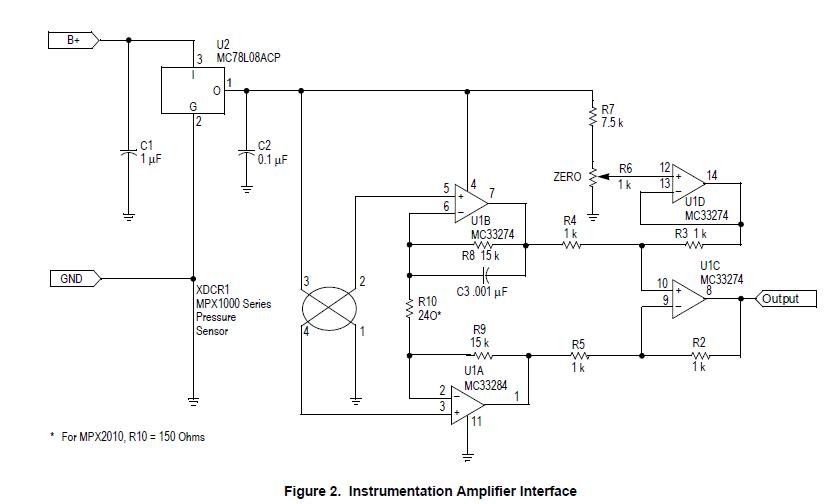 Instrumentation Amplifier For Pressure Sensor - Electronics-Lab