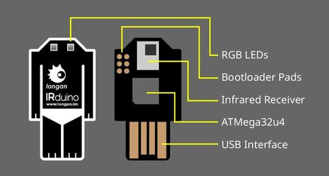IRduino – Arduino-compatible USB infrared receiver