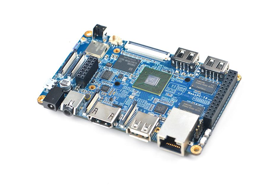 NanoPC-T3 – Octa-core, 2GB DDR3, eMMC storage, Gbps ethernet, WiFi&BT