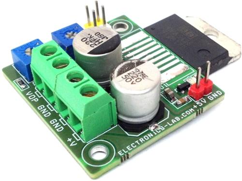1.2V-25V/10A Adjustable Power Supply Using Power Op-Amp