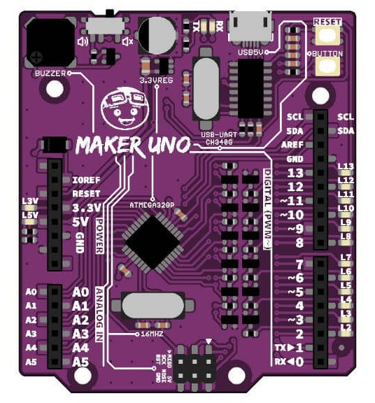 Maker Uno – The $6 Arduino Uno Clone Board for Students and Learners
