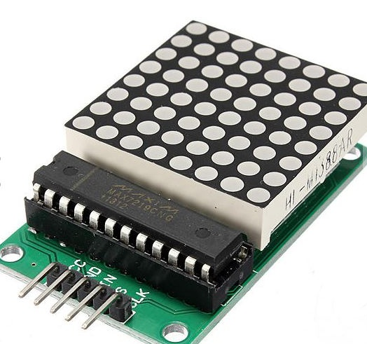 Driving an 8×8 (64) LED Matrix with MAX7219 (or MAX7221) and Arduino Uno