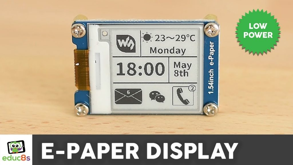 Arduino E-Paper Display Review ( Waveshare 1.54″)