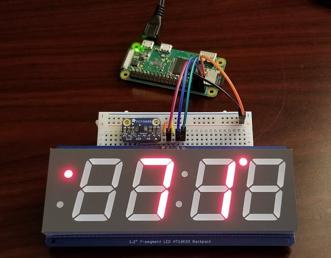 Raspberry Pi Clock with Temperature