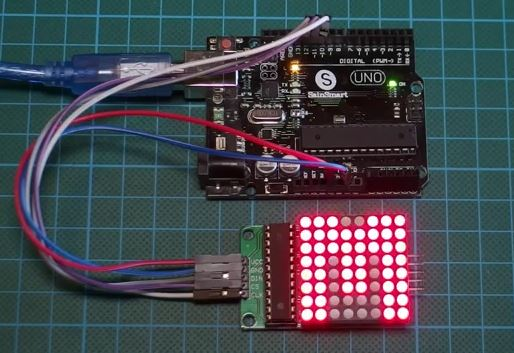 Driving an 8x8 (64) LED Matrix with MAX7219 (or MAX7221) and