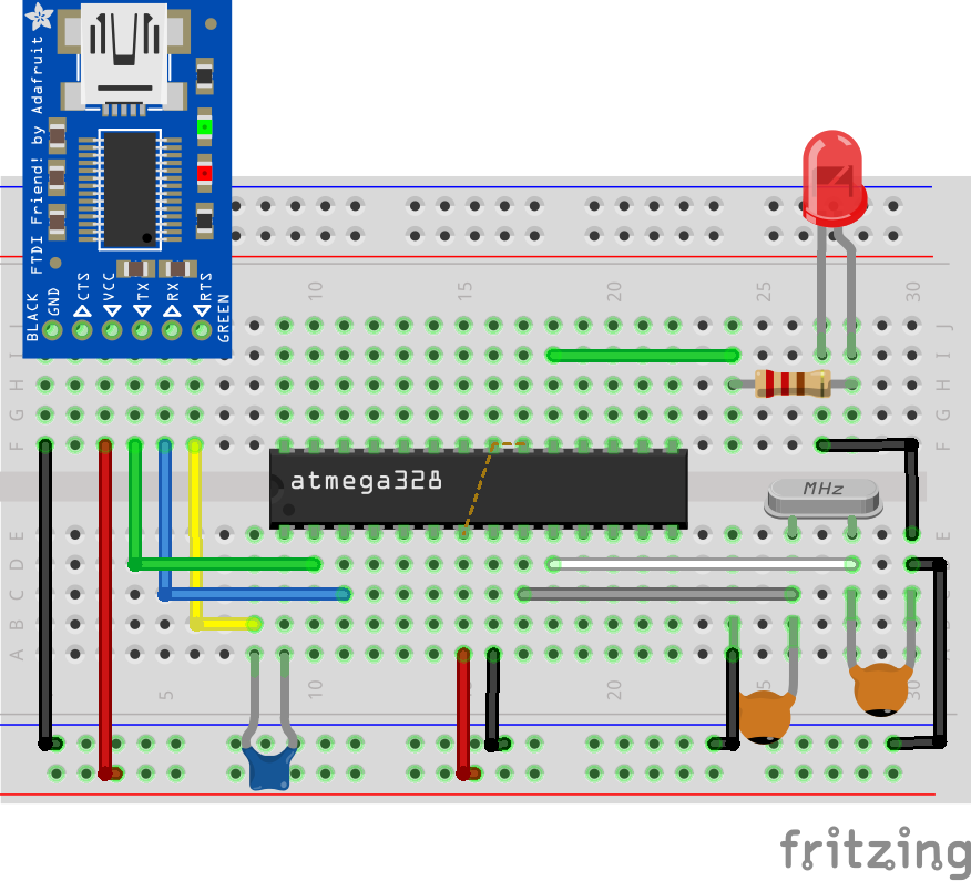 Arduino (Atmega328p) on a Breadboard - Electronics-Lab