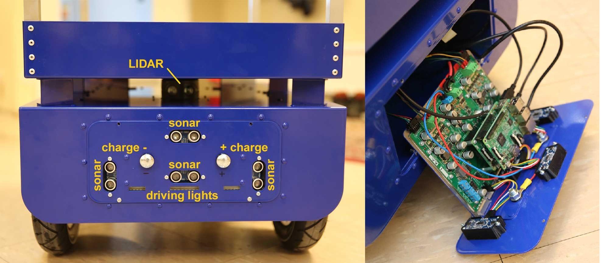 Pulurobots Sonar Sensors and Controller Board