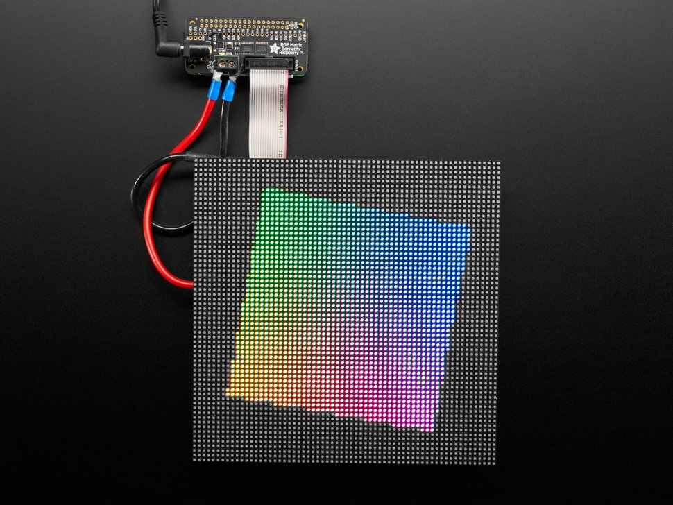 Adafruit RGB Matrix Bonnet – Control RGB Matrix Display Easily with a Raspberry Pi
