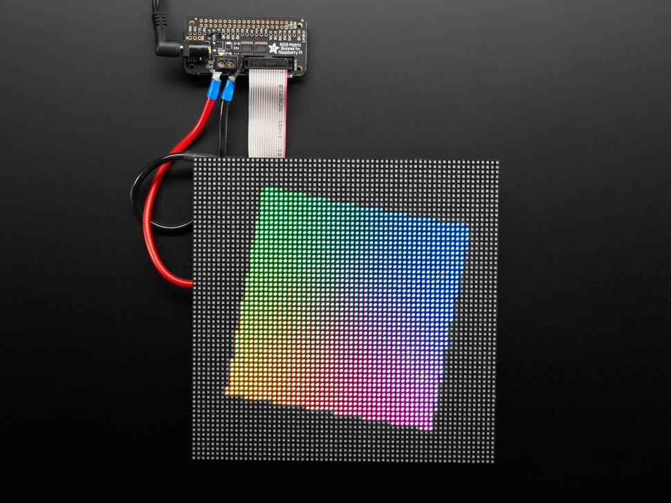 Adafruit RGB Matrix Bonnet – Control RGB Matrix Display Easily with a Raspberry Pi
