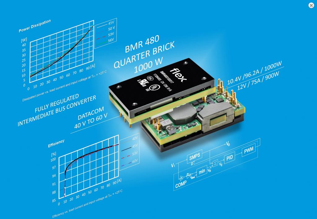 Flex Power Modules launches 1000W DC/DC advanced bus converter