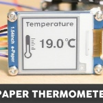 ESP32 E-Paper Thermometer with a DS18B20 Sensor