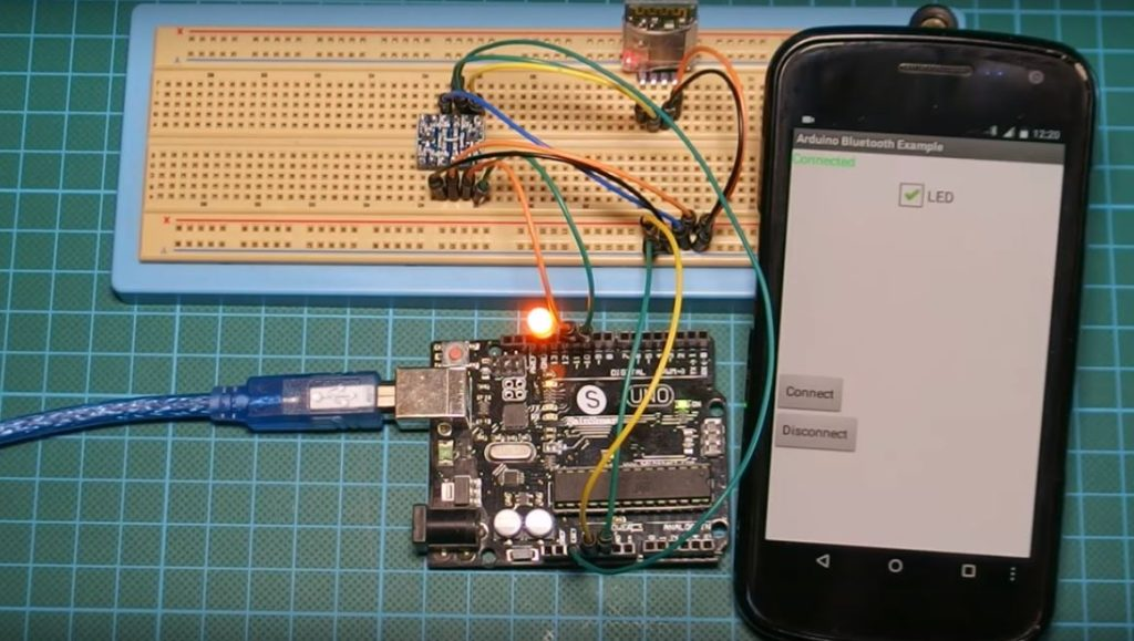 Arduino Communication with an Android App via Bluetooth