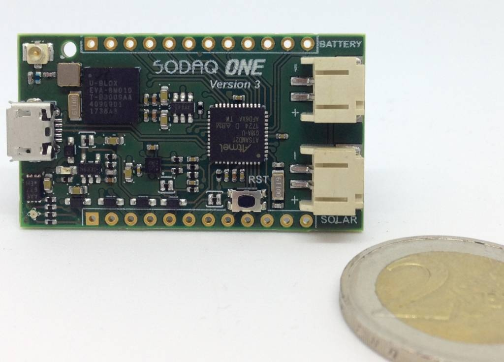 SODAQ ONE board – GPS + LoRa + Solar charger