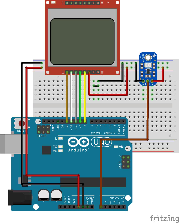 Arduino UV Meter using the UV30A Ultraviolet Sensor