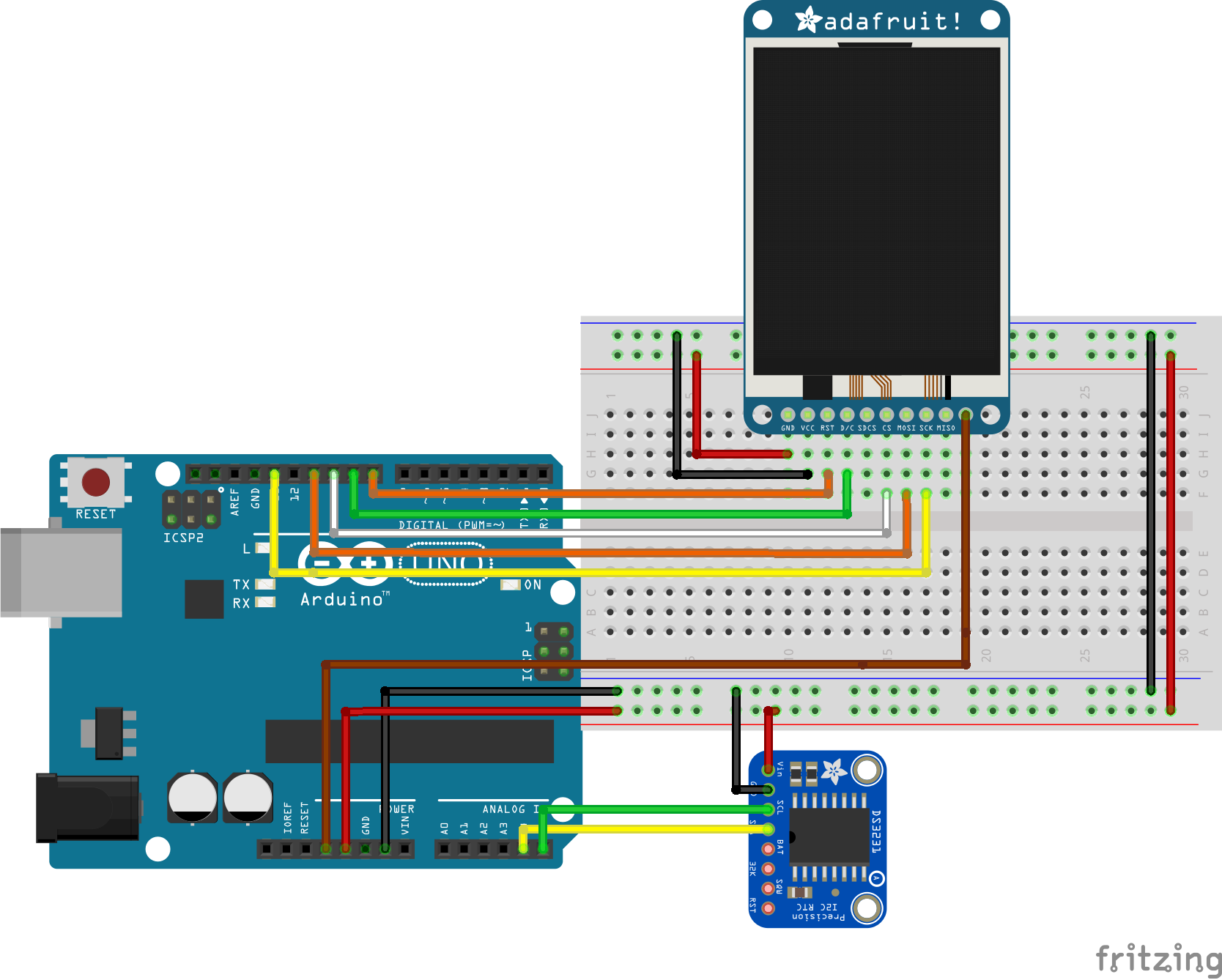 Arduino Real Time Clock With Temperature Monitor Electronics Lab Ds1307realtimeclockschematic Schematics