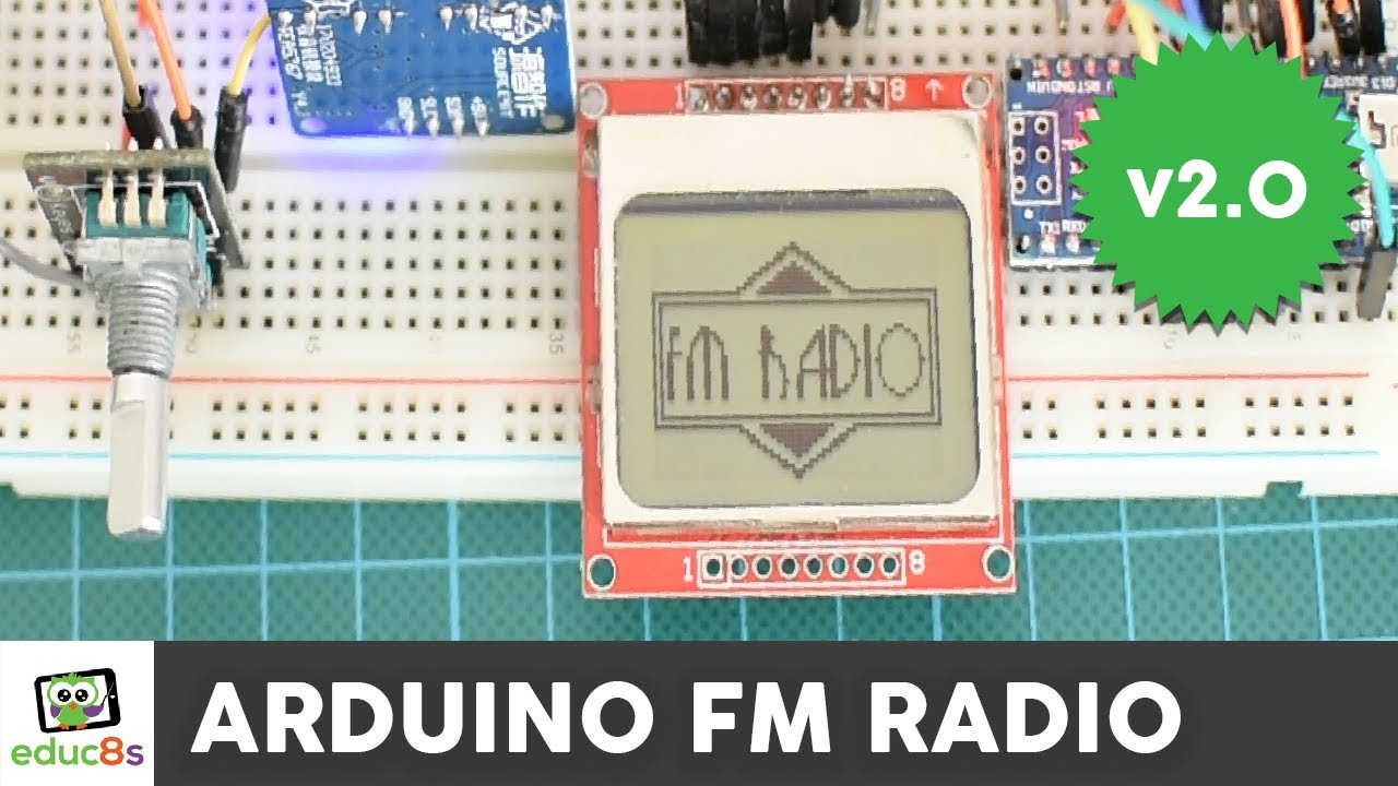 Arduino FM Radio project with a Nokia 5110 display and TEA5767 module