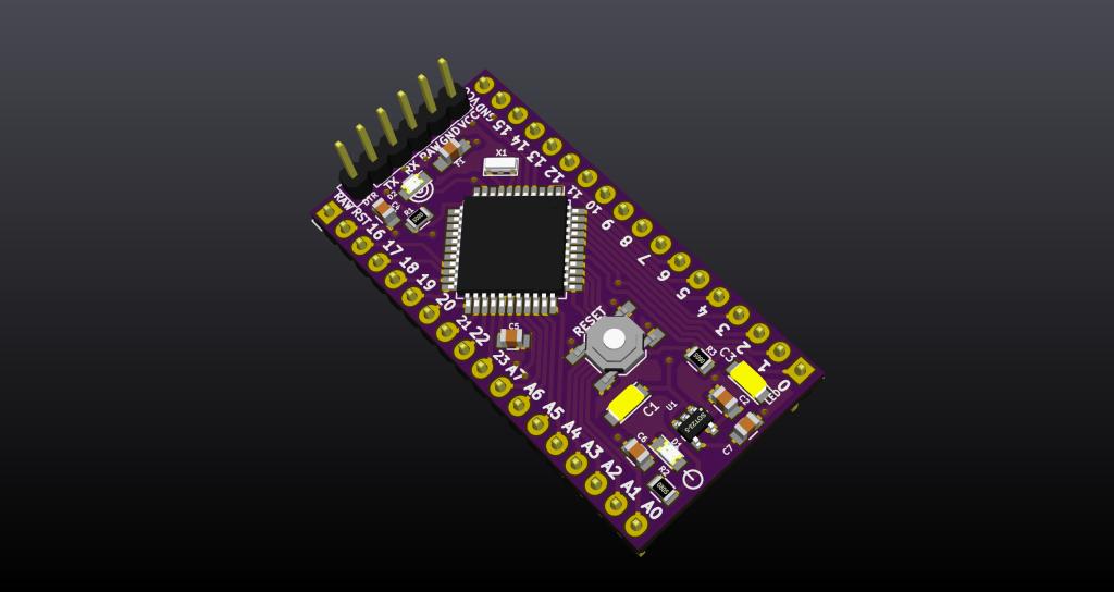 Arduino board based on ATmega644p
