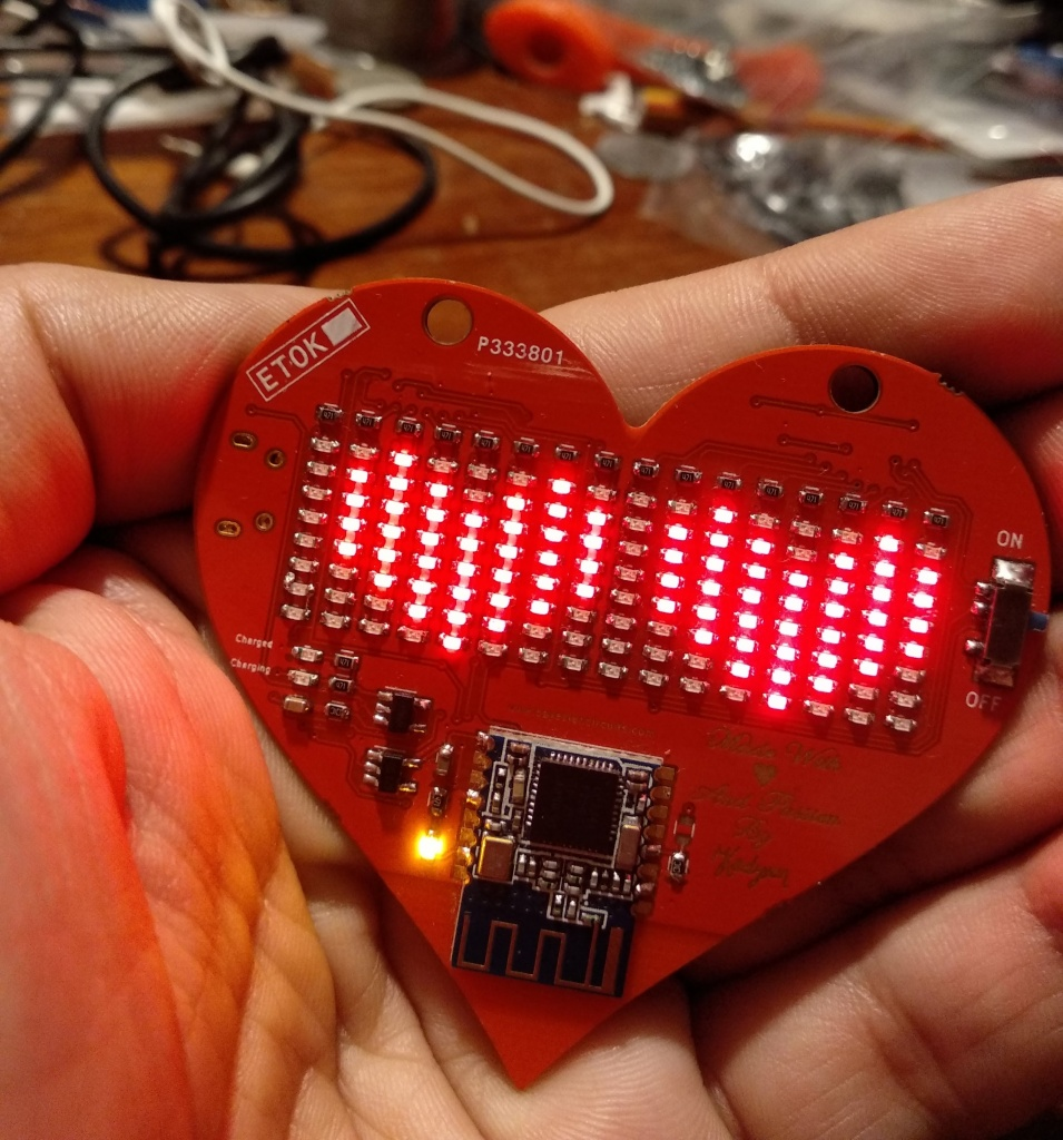 LED BLE Matrix Heart Display