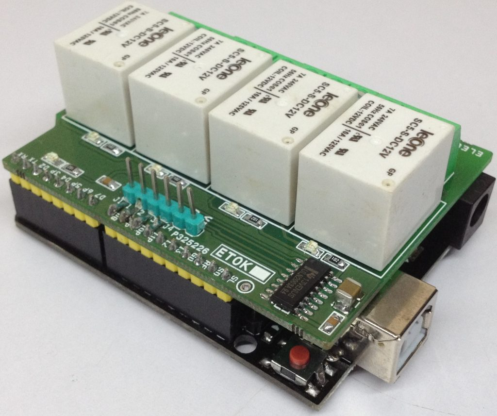 4 Channel Relay Shield for Arduino UNO - Electronics-Lab