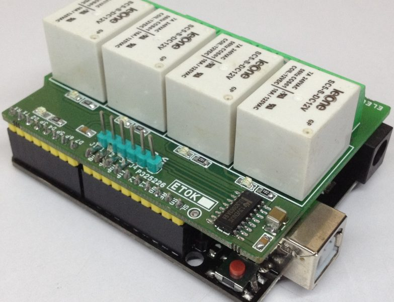 4 Channel Relay Shield for Arduino UNO