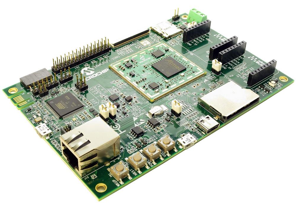 Microchip's New Open Source SAMA5D27 SOM Module Runs Mainline Linux
