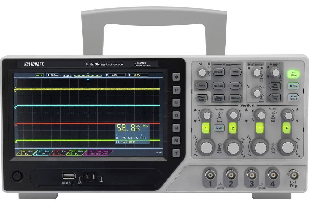 DSO-1000E/F Series – Four-channel oscilloscopes with bandwidth up to 250MHz