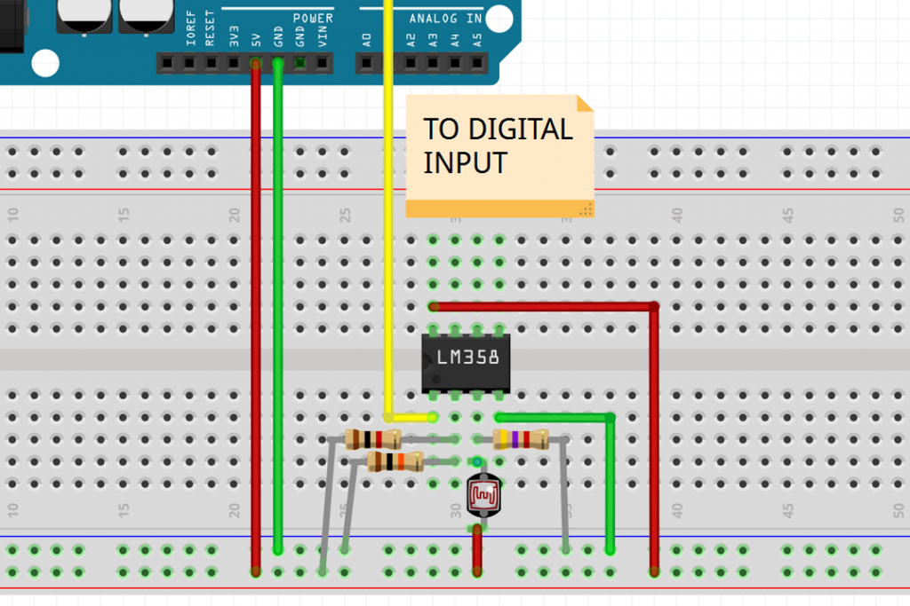 Use a Comparator or Op-Amp to Simplify Light Dependent Resistor