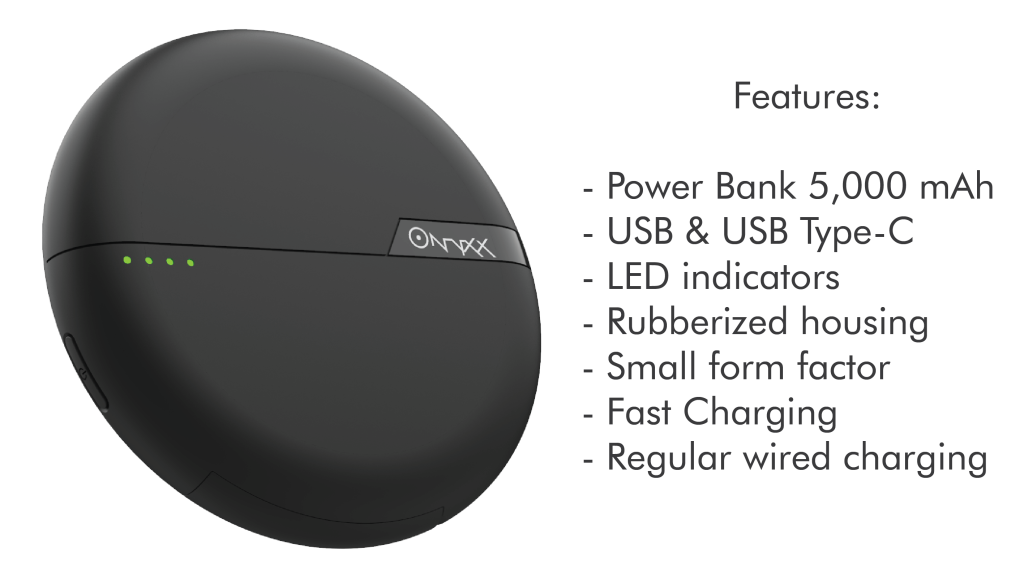 ONYXX – A new wireless charger with 5000mAh capacity