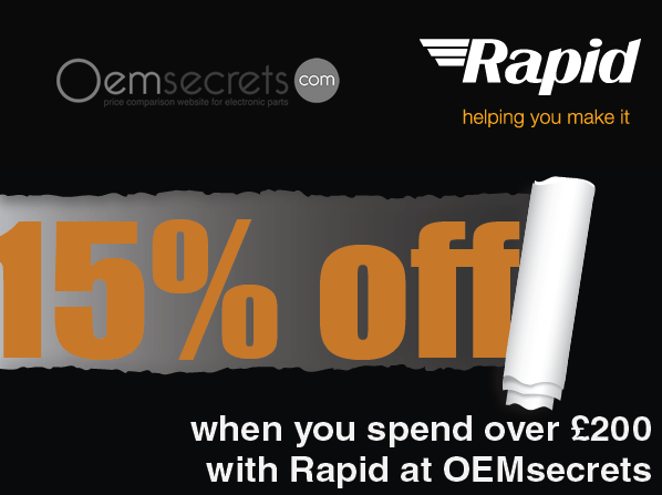 15% off when you spend over £200 with @Rapidonline at @oemsecrets