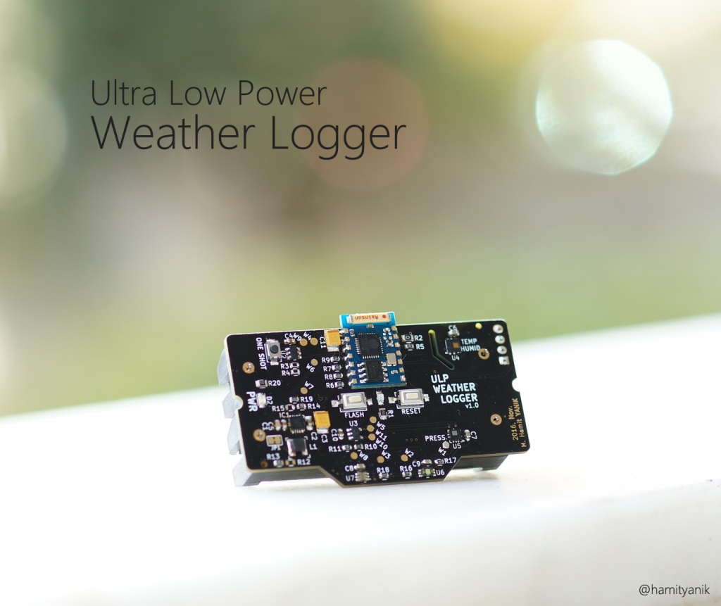 ESP8266 (ESP-03) Based Ultra Low Power Weather Logger