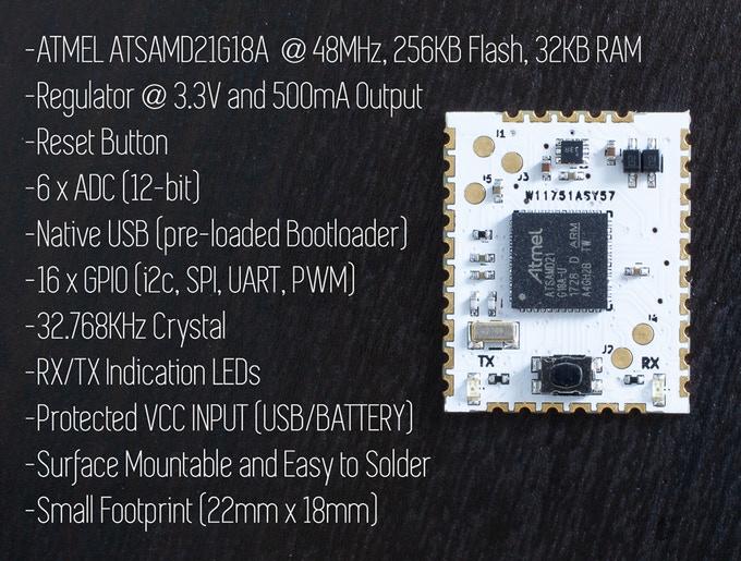 HCC MOD – Ready to Solder Arduino Module